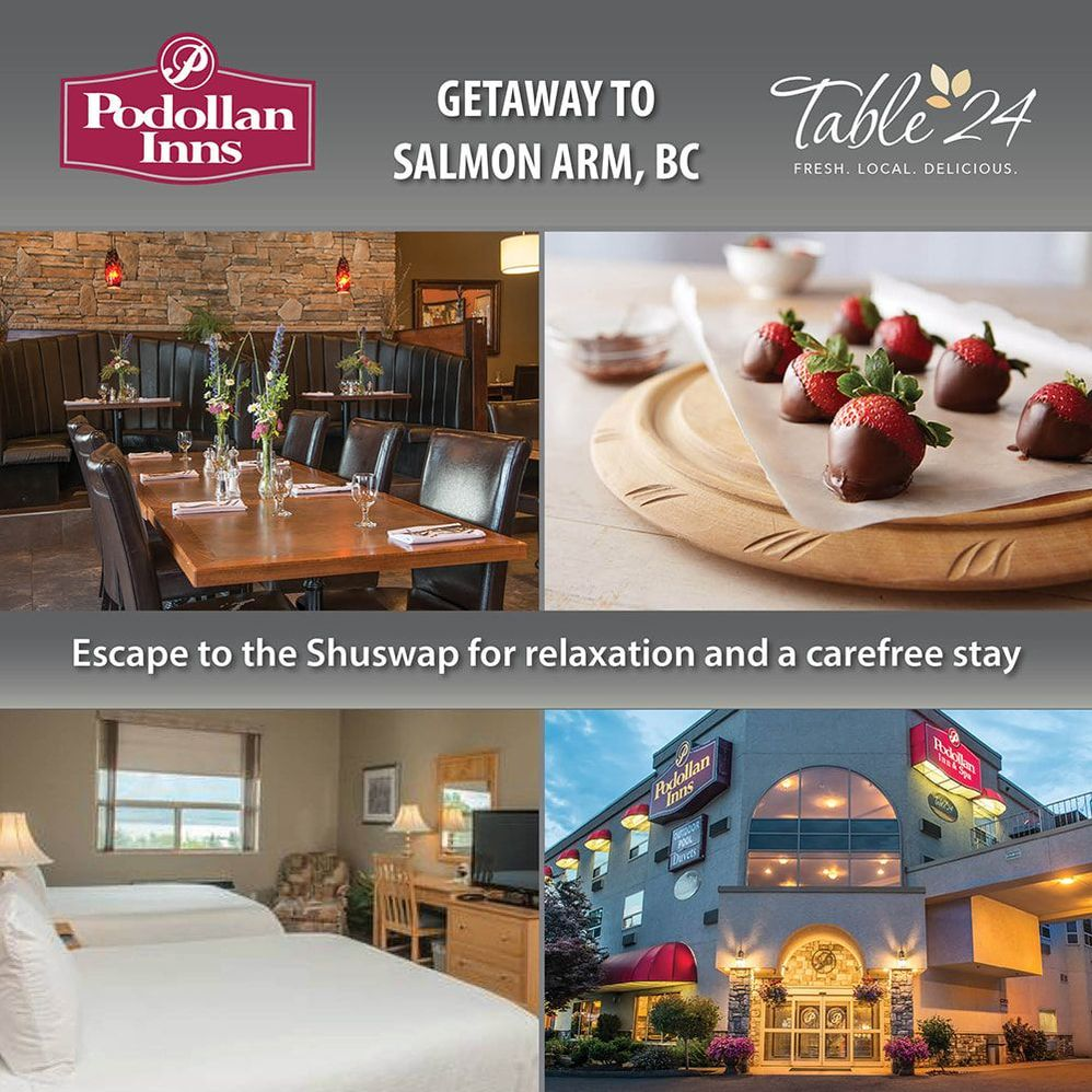Staycation Package at Podollan Inn Salmon Arm
